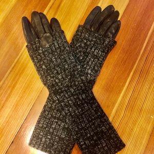 Club Monaco Leather Cashmere/Angora gloves